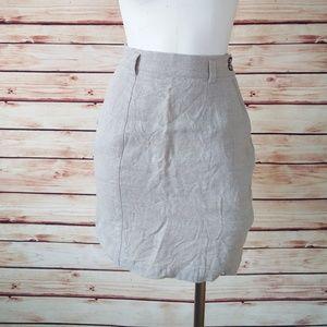 Vintage Natural Linen Ann Taylor Skirt